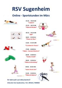 RSV Gymnastik Online im März 2021